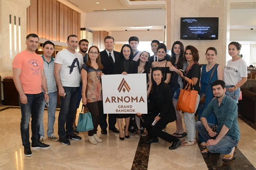 AZERBAIJAN AND LAOS TRAVEL AGENTS VISIT ARNOMA GRAND FOR UPDATE