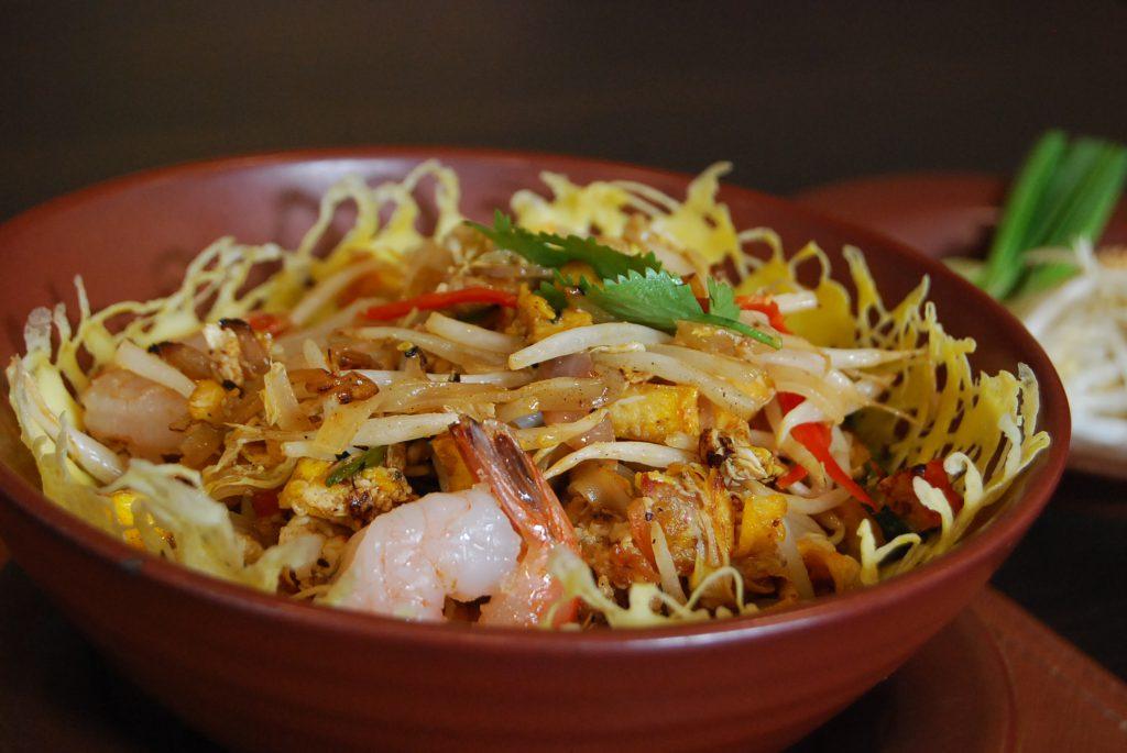 "Famous Thai dish ""Pad Thai""."